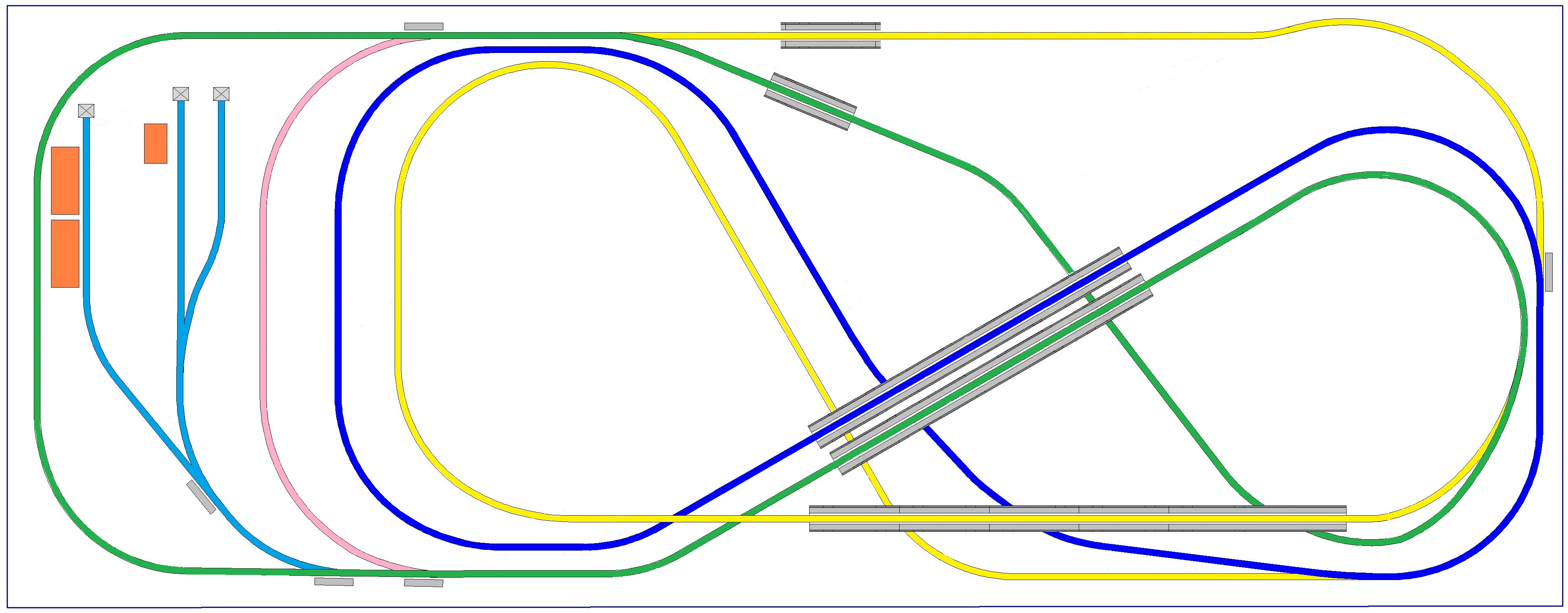 HO track plan modified
