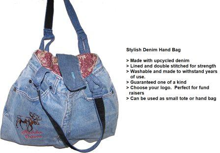 #1~Upcycled denim purse with shoulder strap.  Many pockets